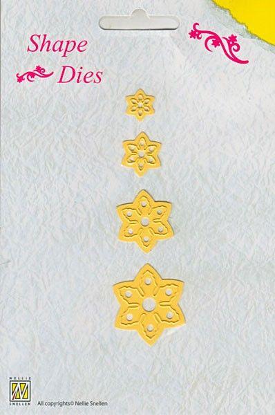 Nellie Snellen - Shape Dies Christmas Flowers