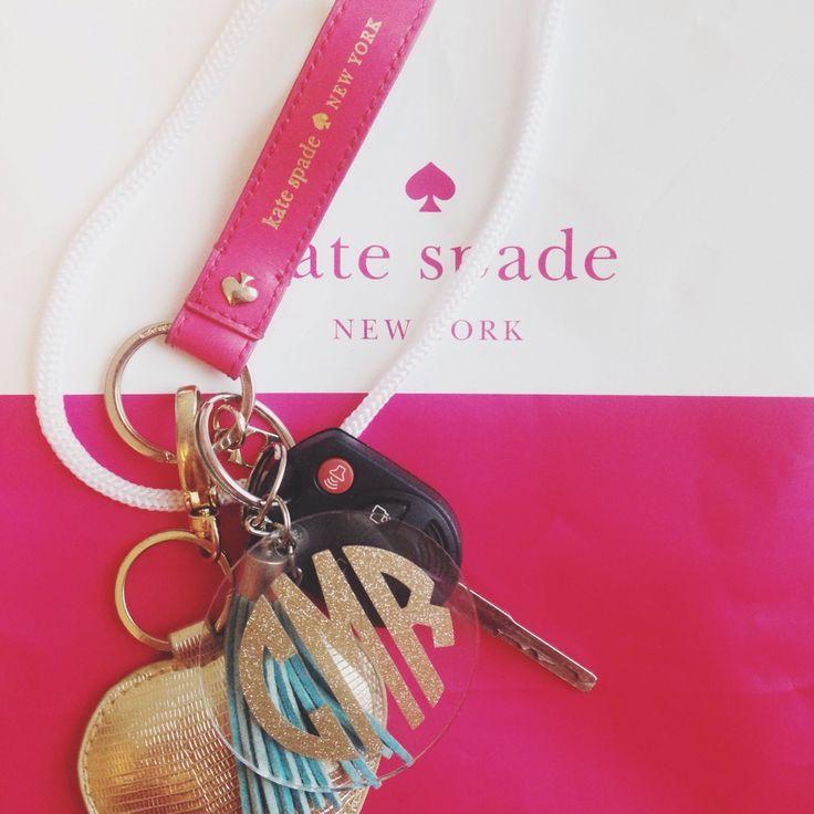 sunflowersstateprep:  Kate Spade and monogram key chain