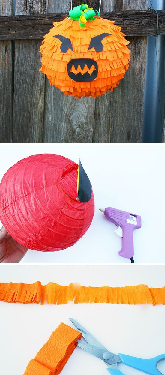 Spooky Pumpkin Piñata for Halloween | Click for 28 DIY Halloween Party Ideas for Kids