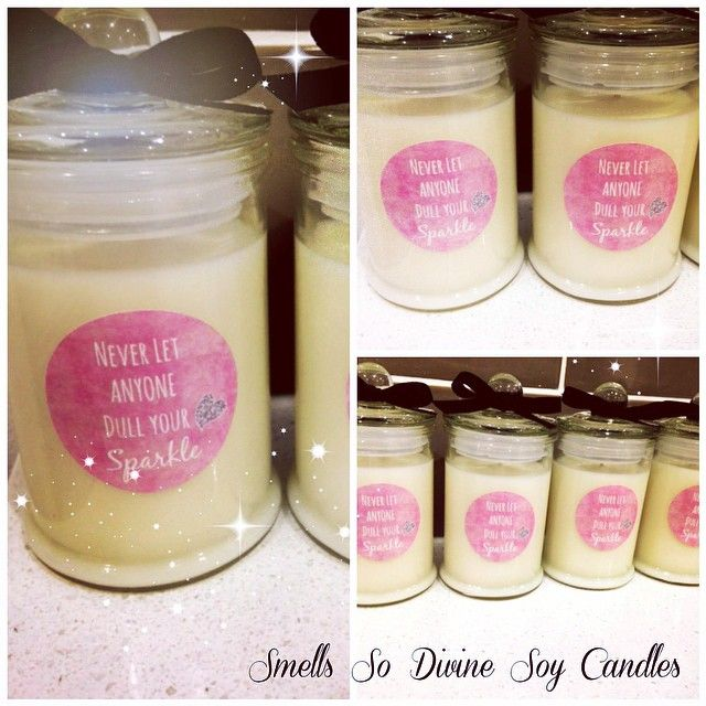 #personalised #motivational #candles made for a customer- 20 small candles #strawberry and #vanilla #punch #scented . #quotes . Never let anyone #dullyoursparkle #christmasgifts #uplifting #smile