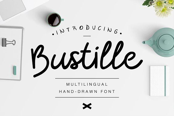 Bustille | Hand-drawn Font by Angelo Konofaos on @creativemarket