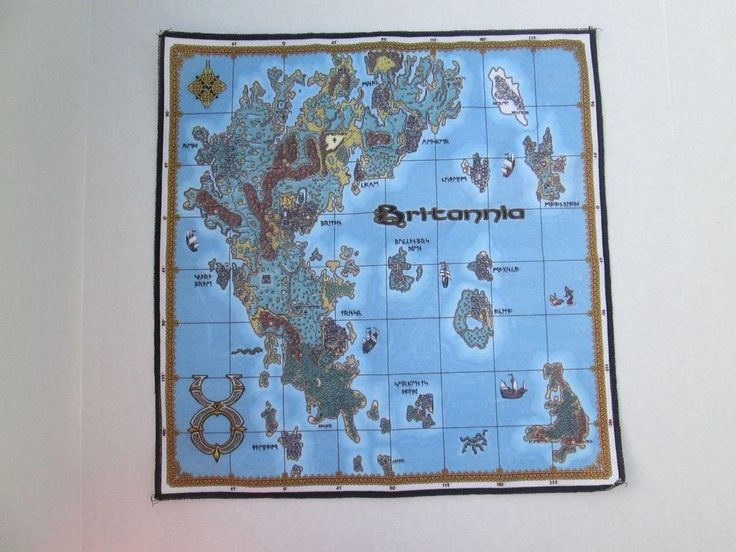 RARE! Original Ultima Online Britannia Cloth Map No Pin | Video Games & Consoles, Other Video Games & Consoles | eBay!