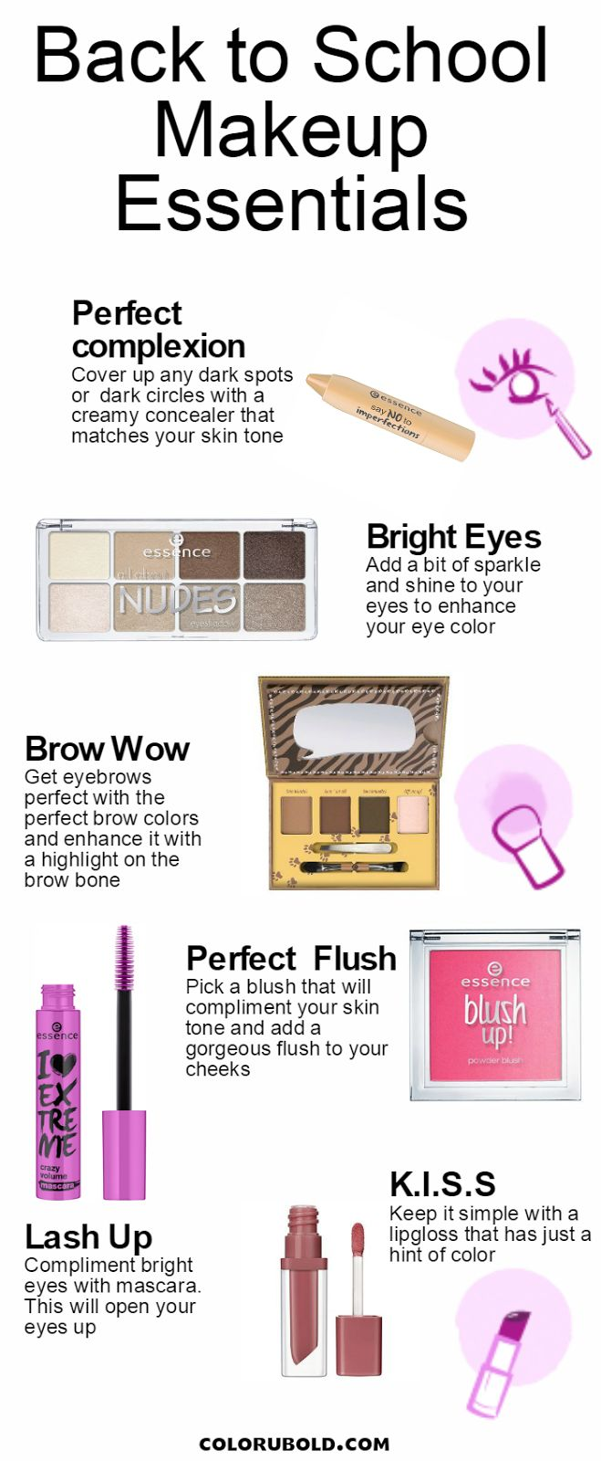 Affordable Back to School Makeup Essentials for teens and college students!