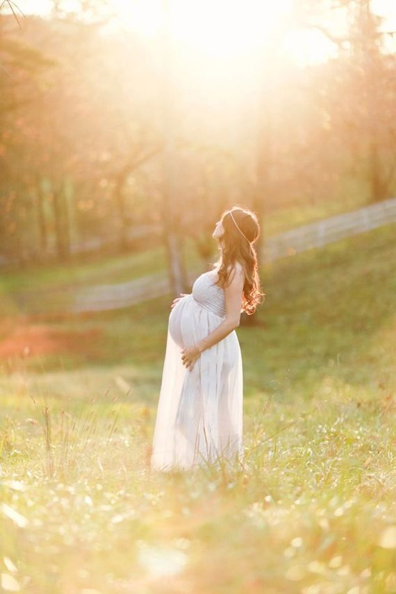 Romantic light-filled maternity