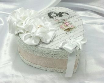 Shabby chique Box, Birthday Gift Box, Shabby Chic sieraden doos, Cottage chique Decor, witte sieraden doos, Keepsake Box, Gift Box