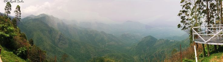The Endless Beauties of Kodaikanal - A picturesque panoramic view of the Nilgiri Hills, captured from a view point at Kodaikanal, Tamil Nadu, India. Clicked on my Google Nexus 5.