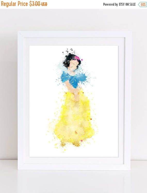 70%OFF Snow White Disney Priness Watercolor Disney princess