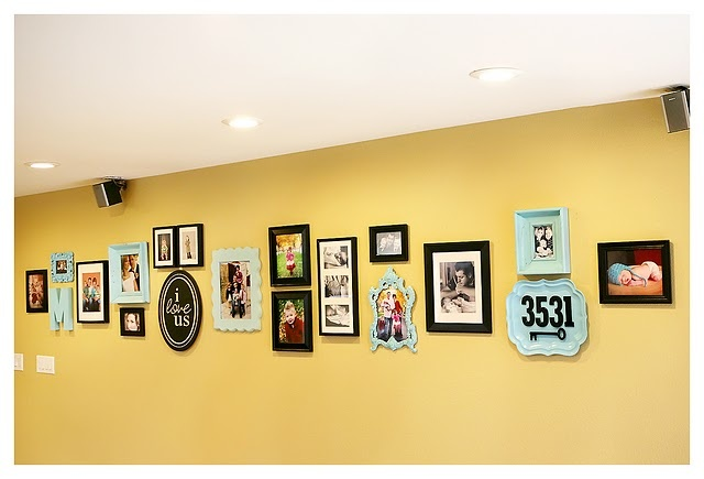 photo wall: Upstairs Hallways, Wall Hanging, Sprays Paintings Frames, Photo Wall, Cool Ideas, House Numbers, Pictures Wall, Wall Ideas, Photo Galleries Wall