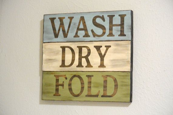 laundry room. wash dry fold by WhiteAspenStudio