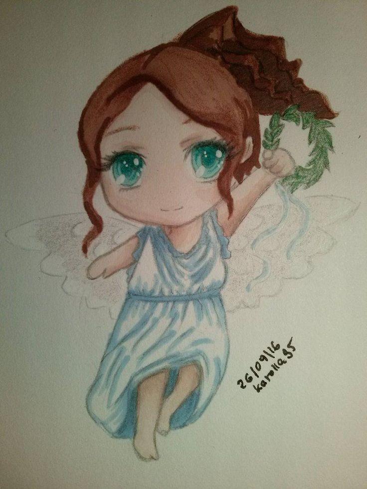 Goddess Nike (Chibi) by karolla95.deviantart.com on @DeviantArt