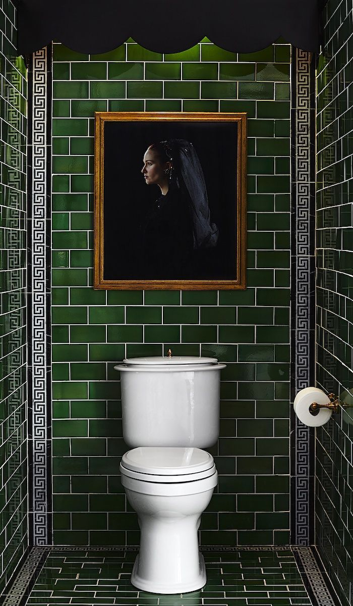 Deko Badezimmer Action Dark Green Tiled Bar Base Or Even 1 2 The Bathroom Toilet