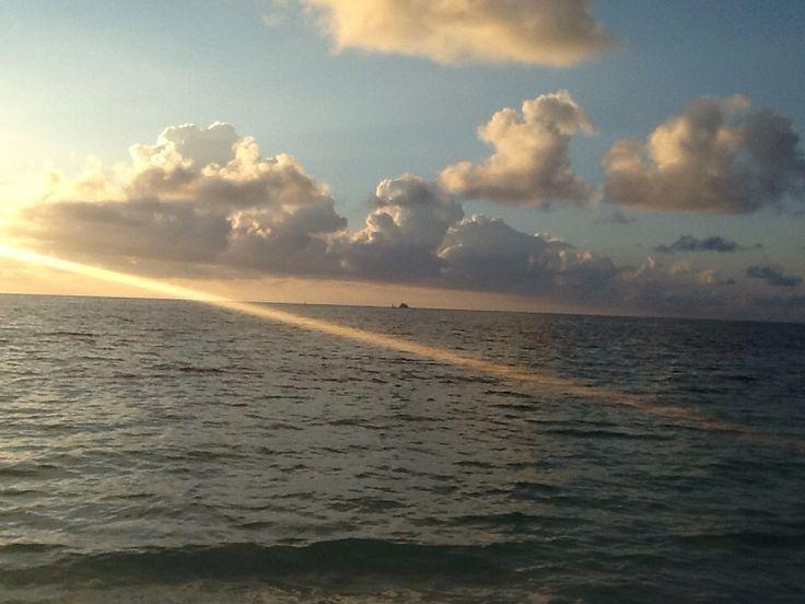 sunrise on Grand Bahamas beach!