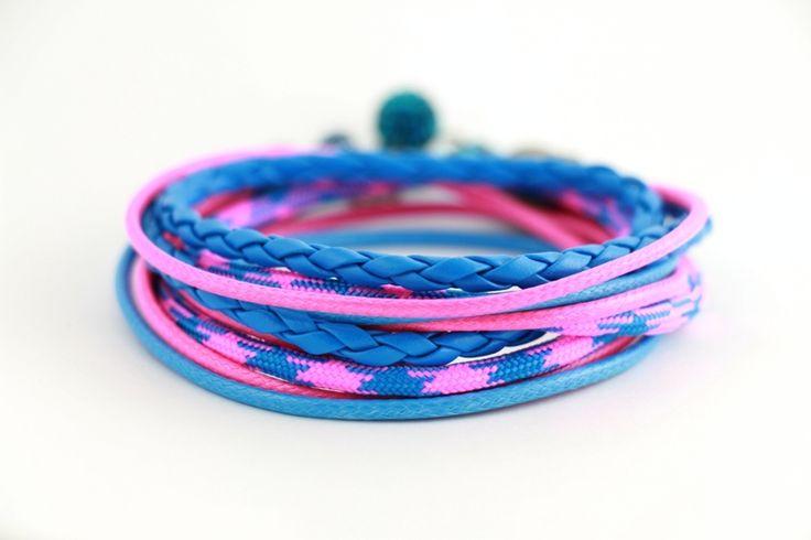Bransoletka Pink & Blue od JoannaDesign