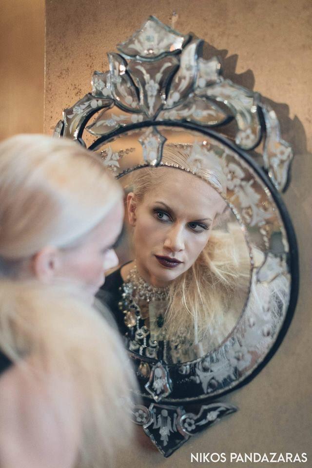 Pensou Magda  Down Town Magazine, no 58 Interview: Panos Zogas Photo: Nikos Pandazaras Make up/hair styling: Konstantina Michopanou styling Athena Matisse Garments: Vassilis Zoulias  Jewllery Pericles Kondylatos