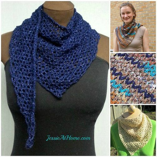 Wrapped-in-Blue-Free-Crochet-Pattern Size: about 38″ to 42″ long and about 14″ to 15″ at widest point Yarn: Lion Brand Vanna's Glamour ~ one skein Hook: US 6/G/4.00mm