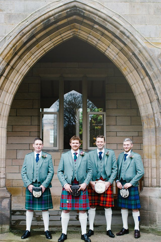 Bridal Party // The Gibsons Photography // wedding photographers Scotland // fine art wedding photographers // natural wedding photographers // Scottish Wedding // Destination Wedding Photographers // Groom // Groomsmen // Men in Kilts