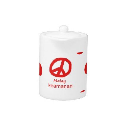 #Malay Language And Peace Symbol Design Teapot - #country gifts style diy gift ideas