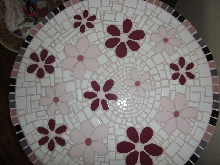 Mesa mosaico ceramica mosaico pinterest ceramica and for Mosaico ceramica