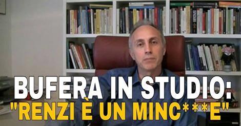 """il popolo del blog,: BUFERA IN STUDIO: TRAVAGLIO BOMBARDA RENZI: """"E' UN..."""