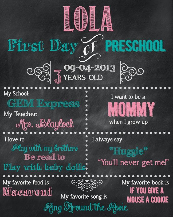 8 best Kindergarten images on Pinterest Back to school, First day