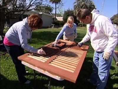 How to Install Bermuda Shutters and a Fence : How-To : DIY Network