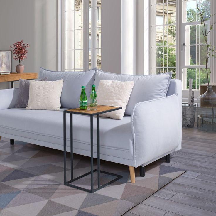 VETA Beistelltisch Eiche Metall Skandinavisch Minimalistisch C Tisch  / Side table | NOTORIA