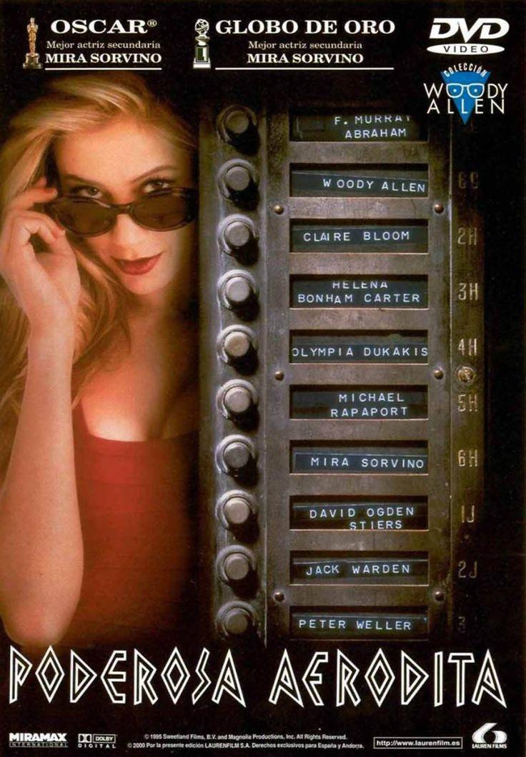 DVD CINE 2464 - Poderosa afrodita (1995) EEUU. Dir.: Woody Allen. Comedia. Prostitución. Sinopse: Unha galerista de Nova York convence ao seu marido, xornalista deportivo, para adoptar a un bebé. O marido, asombrado pola intelixencia do neno, quere saber se a súa nai biolóxica é tamén superdotada; así que decide buscala. Cando consegue localizala, resulta que se trata dunha tenra prostituta, con moi poucas luces, que aspira a ser actriz