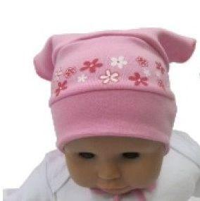 Dívčí letní šátek bez kšiltu se zavázáním. Česká výroba. Růžová barva. #kojenecké #oblečení #šátek #růžová #kojenci #děti
