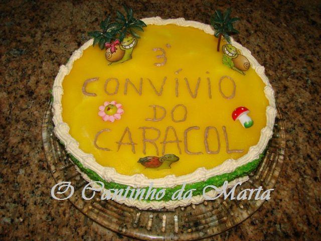 O Cantinho da Marta: Bolo Caracol de Baunilha e Chocolate