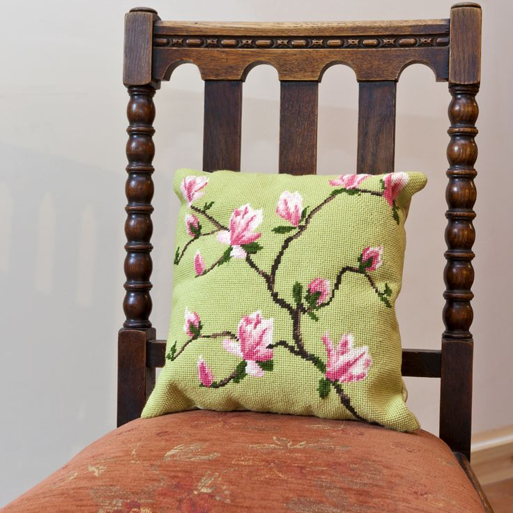 """Spring Blossom 12"""" cushion from cleopatrasneedle.co.uk"""