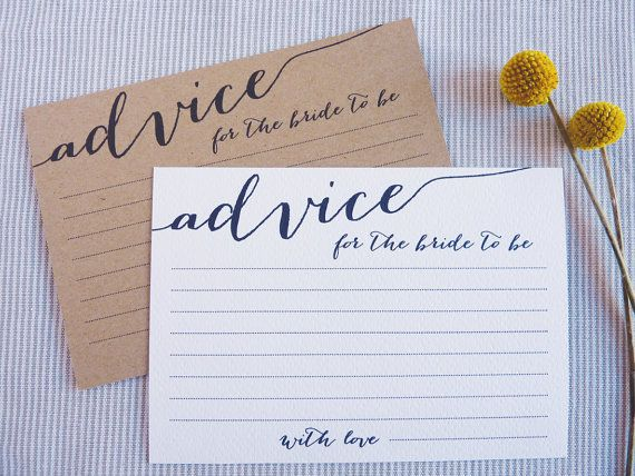bridal shower advice cards printable advice for the bride to be