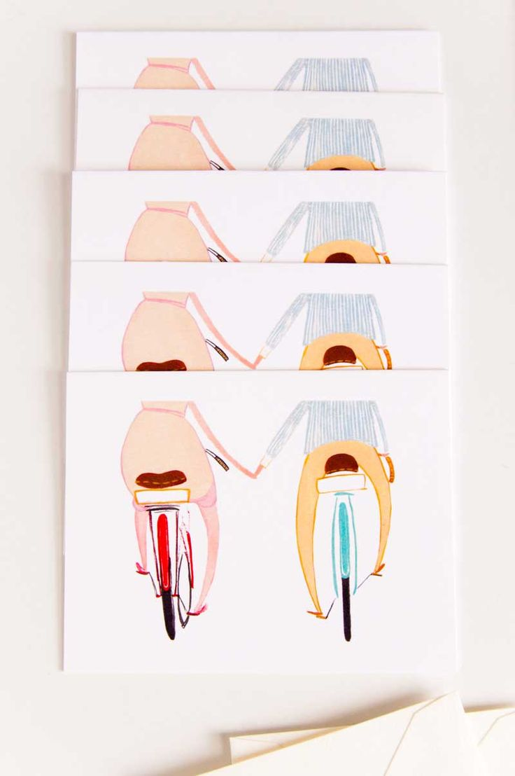 Happy Bikes greeting cards by @jollyedition