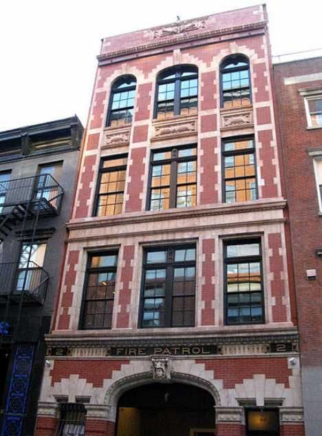 Anderson Cooper's restored firehouse home in New York's Greenwich Village.