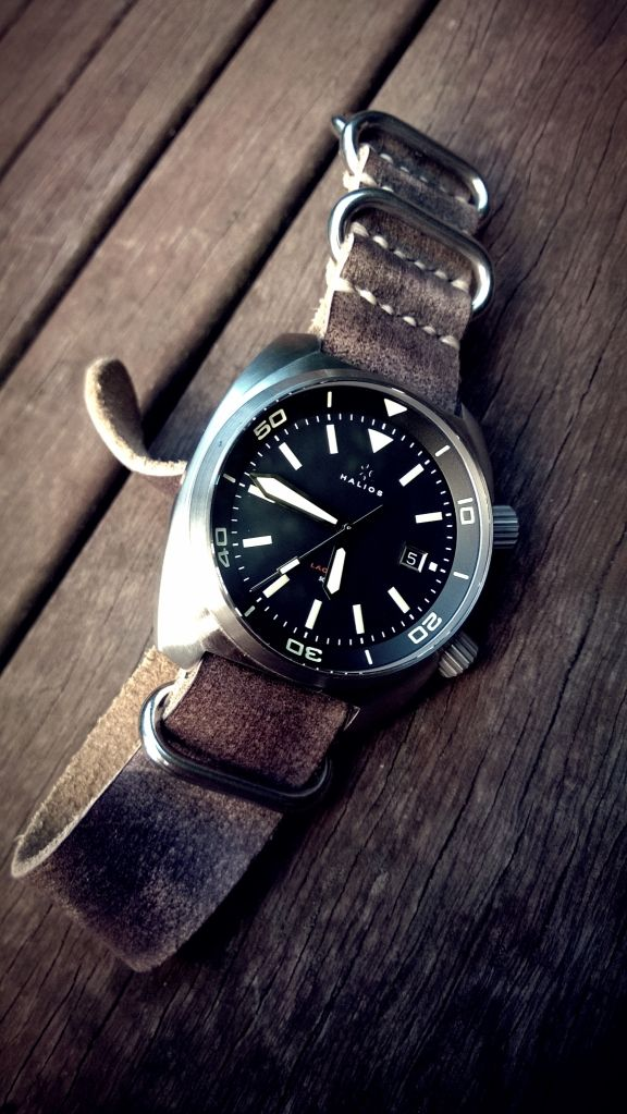 Leather strap on a Diver.
