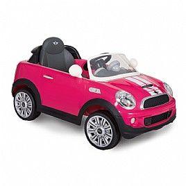 מכונית ממונעת לילדים עם שלט Mini Coper S Coupe 12V ורוד פוקסיה