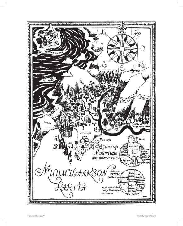 Mumin Affisch, Karta över Mumindalen