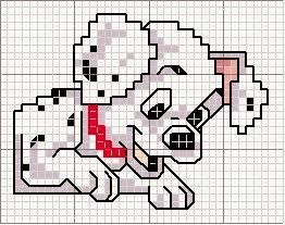 Ricami, lavori e schemi a puntocroce gratuiti: Raccolta di schemi punto croce -cartoni animati - la carica dei 101