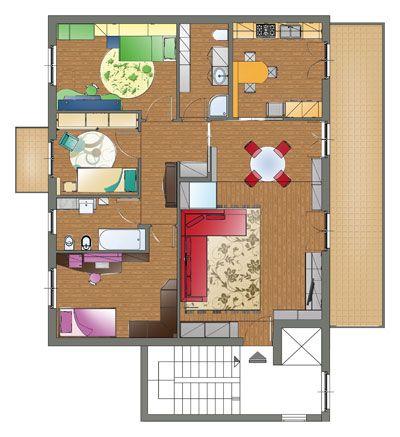 Oltre 25 fantastiche idee su planimetrie dell 39 appartamento for Planimetrie della casa di saltbox