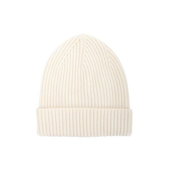 STELLA MC CARTNEY Ribbed Beanie ($173) ❤ liked on Polyvore featuring accessories, hats, white, beanie cap, white beanie hat, white beanie, white brim hat and white hat