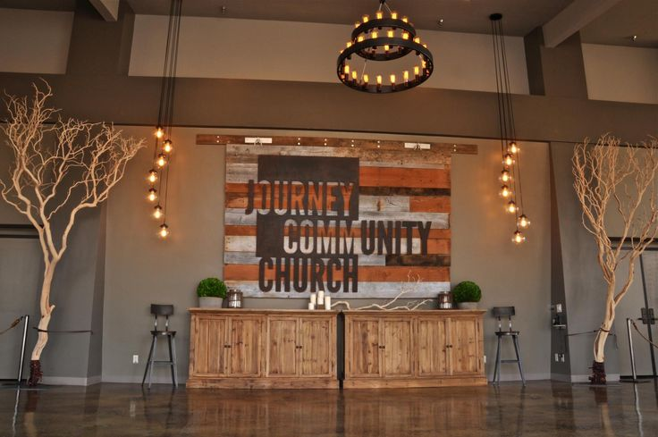 Journey - A Church Lobby - Designed Interiors | San Diego