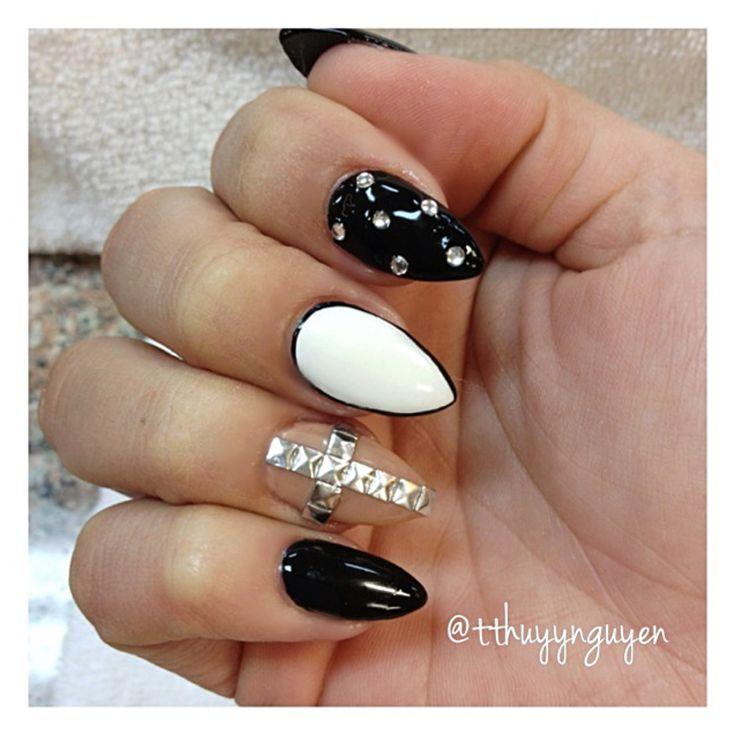 tumblr almond nails | ... nails nails art nail design pink ...