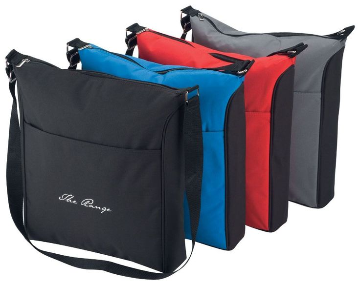 Insulated Cooler Carry Bag  Fully insulated heat sealed and manufactured from 3mm ripstop material in black.  Features include: insulated main compartment front zippered pocket, wide webbed carry handle, adjustable shoulder strap, business card holder on back and metal fittings. Available in 4 colours.  Black, Blue, Grey, Red