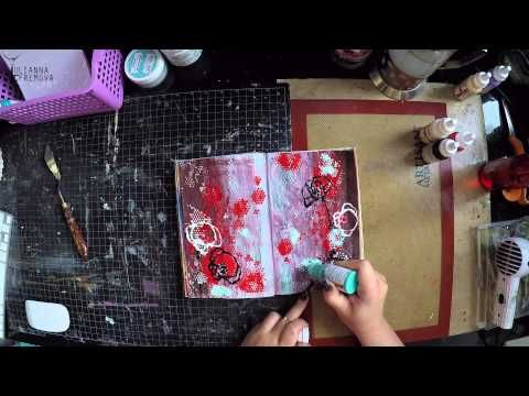 "Art Journal ""Poppies"" for TM ""Fabrika Decoru"" - YouTube"