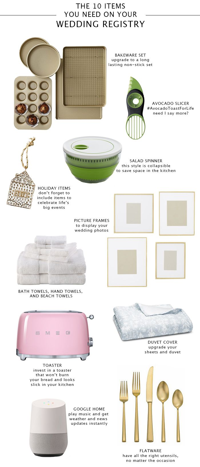 Planning Your Wedding Registry Should Be Fun And Stress Free So Today We Re Sharing The Top 10 Items Everyone Register For