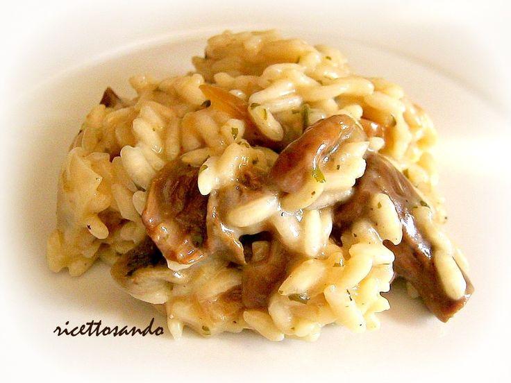 Risotto ai funghi. #ricetta di @luisellablog