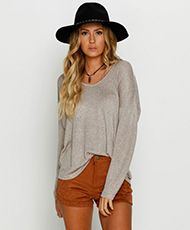 Ava And Ever Seven Mile Knit Top