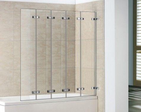 Good 5 Panel Semi Frameless Folding Bath Screen. Bath ScreensBathroom  StuffBathroom IdeasShower ...