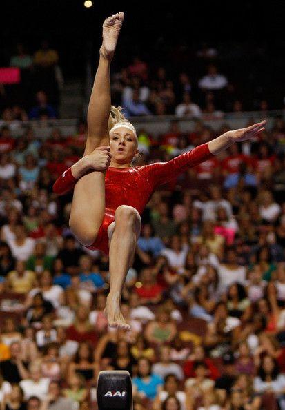 Nastia Liukin Photos Photos - Nastia Liukin competes on the balance beam during day four of the 2008 U.S. Olympic Team Trials for gymnastics at the Wachovia Center on June 22, 2008 in Philadelphia, Pennsylvania. - 2008 U.S. Olympic Team Trials - Gymnastics Day 4