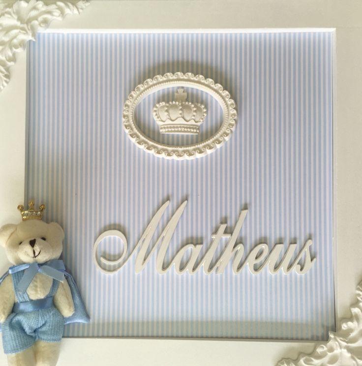 Enfeite para porta de maternidade e quarto de menino, 30x 30