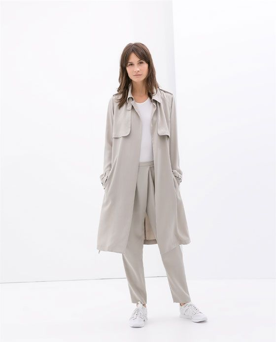 ZARA loose fit trench SS14